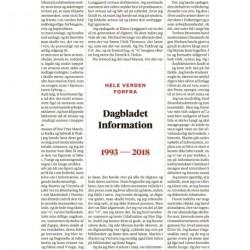 Hele verden forfra: Dagbladet Information 1993-2018