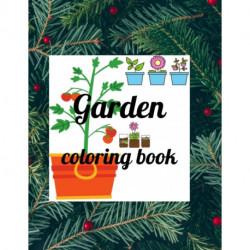 Garden coloring book: A Coloring Book of 35 Unique garden Coe Stress relief Book Designs Paperback