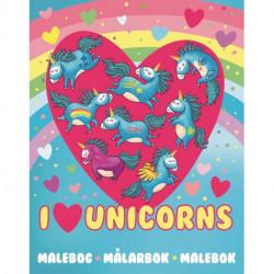 Malebog I Love Unicorns: Malebog 48 sider
