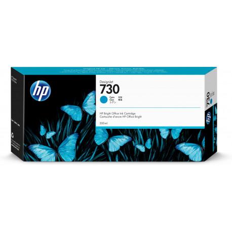 HP HP 730 300 ml. Cyan DesignJet Ink Cartridge (P2V68A)