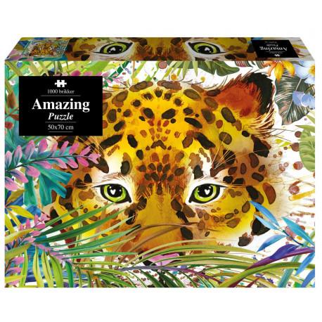 Amazing Puzzle - Leopard akvarel