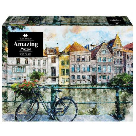 Amazing Puzzle - Cykel maleri
