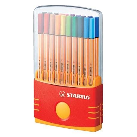 Fineliner Stabilo Point 88 assorterede farver etui a 20 stk.