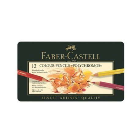 Faber-Castell Polychromos farveblyanter 12 stk