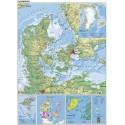 Danmarkskort 97x137cm