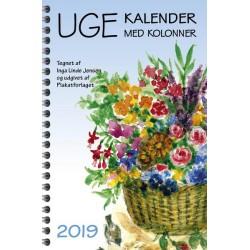 Ugekalender med kolonner 2019
