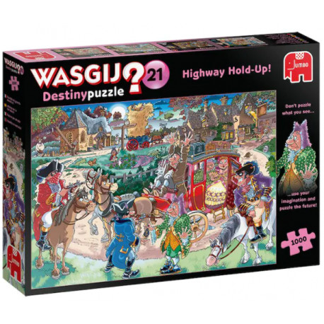 Wasgij Puslespil - Highway Hold-Up! - 1000 brikker
