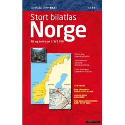 Stort bilatlas Norge 2021 : bil- og turistkart