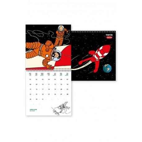 Tintin vægkalender 2019