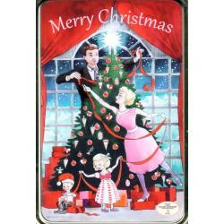 Merry Christmas-dåse med karameller, 330g