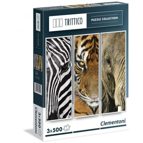 Puslespil Africa Animals. 3*500 brikker.