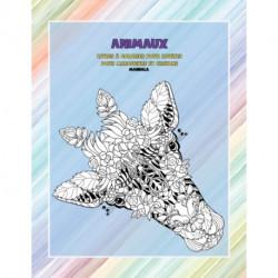 Livres a colorier pour adultes pour marqueurs et crayons - Mandala - Animaux