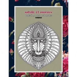 Livres a colorier pour adultes - Mandala - Nature et animaux