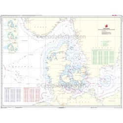 D Danmark Søgrænser - Fiskeri- og territorialgrænser: Dansk kort