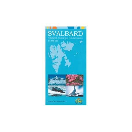 Svalbard: turistkart - tourist map - Touristenkarte