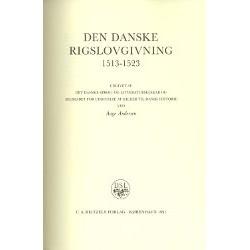 Den danske rigslovgivning 1513-1523