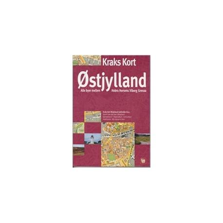 Kraks Kort Ostjylland 2009 Haeftet Dansk Af