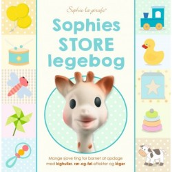 Sophies store legebog: Mange sjove ting for barnet at opdage med kighuller, rør-og-føl-effekter og låger.