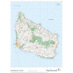 Trap Danmark: Kort over Bornholm: Topografisk plankort 1:75.000