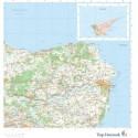 Trap Danmark: Kort over Norddjurs Kommune: Topografisk kort 1:75.000