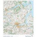 Trap Danmark: Falset kort over Randers Kommune i plastlomme: Falset topografisk kort 1:75.000