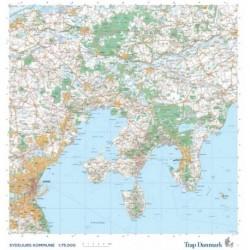 Trap Danmark: Kort over Syddjurs Kommune: Topografisk kort 1:75.000