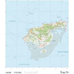 Trap Danmark: Kort over Læsø Kommune: Topografisk kort 1:75.000