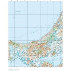 Trap Danmark: Kort over Jammerbugt Kommune: Topografisk kort 1:75.000