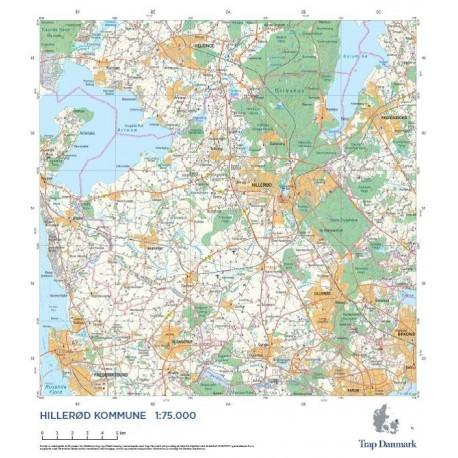 Trap Danmark Kort Over Hillerod Kommune Topografisk Kort 1