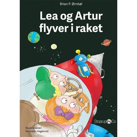 Lea og Artur flyver i raket