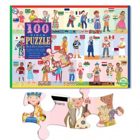 Puslespil 100 brikker - Verdens Børn: eeBoo