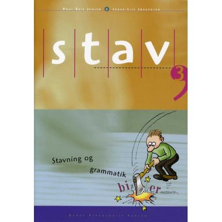 STAV 3 - Elevens bog, 4. udgave: Stavning og grammatik for 3. klasse