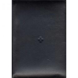 Bibelen - lille format: i sort skind med lynlås