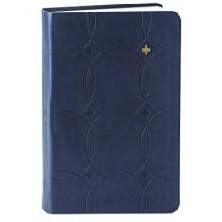 Bibelen - lille format: i blødt kunstlæder med blindpræg, blå med guldkors