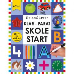 De små lærer - Skriv og visk ud - Klar-parat-skolestart: papbog med ikke-permanent pen og spiralryg