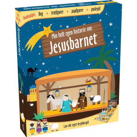 Min helt egen historie om Jesusbarnet: Lav dit eget krybbespil