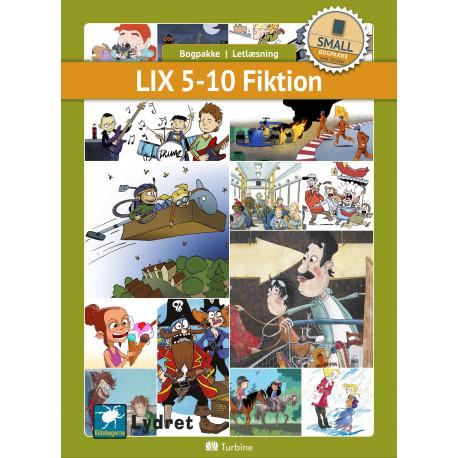 LIX 5-10 Fiktion (SMALL 10 bøger): vejl. pris 1729,50kr. Pakkepris 1383kr - spar 20%