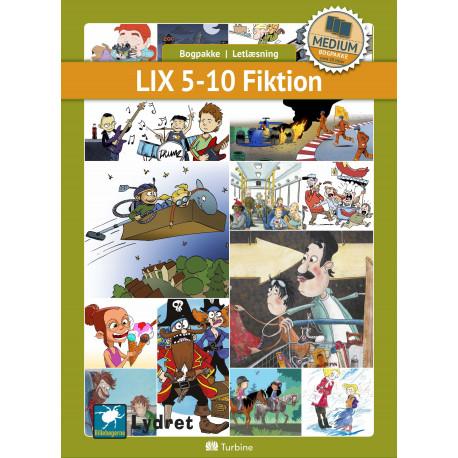 LIX 5-10 Fiktion (MEDIUM 20 bøger): vejl. pris 3449kr. Pakkepris 2586kr - spar 25%