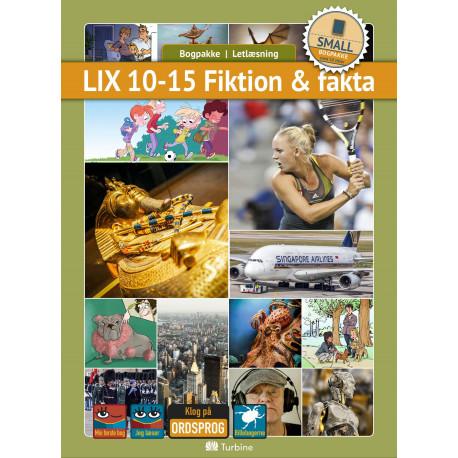 LIX 10-15 Fiktion & fakta (SMALL 10 bøger): vejl. pris 1789,50kr. Pakkepris 1431kr - spar 20%