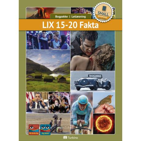 LIX 15-20 Fakta ( SMALL 10 bøger): vejl. pris 1779,50kr. Pakkepris 1423kr - spar 20%