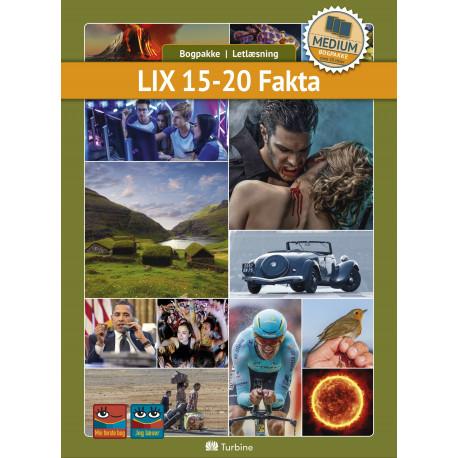 LIX 15-20 Fakta ( MEDIUM 20 bøger): vejl. pris 3569kr. Pakkepris 2676kr - spar 25%