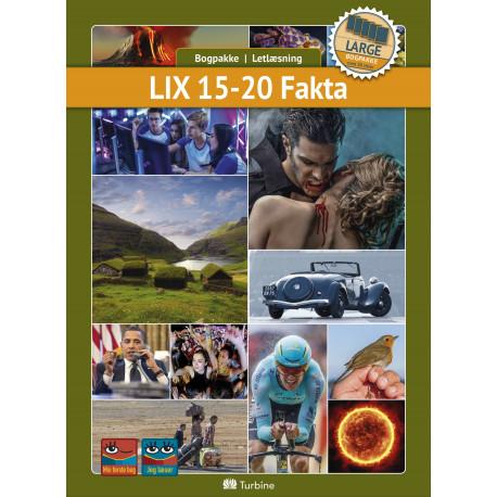 LIX 15-20 Fakta ( LARGE 30 bøger): vejl. pris 5368,50kr. Pakkepris 3758kr - spar 30%