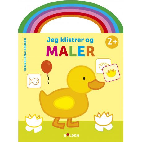 Regnbuemalebog - Jeg klisterer og maler (and): fra 2 år