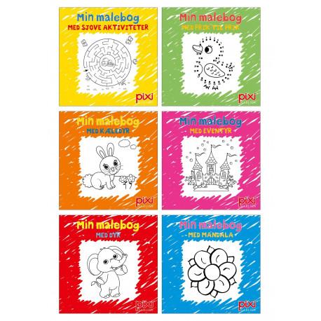 Krea Pixi®-serie 1: Male- og aktivitetsbøger (kolli 48)