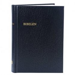 Bibelen - lille format, kirkebibelen: sort