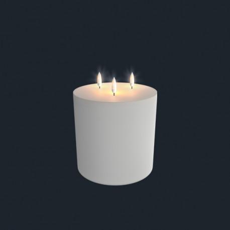 Lys med 3 flammer (Ivory - 15,2 x 18 CM)
