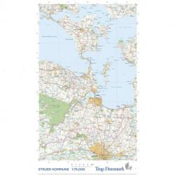 Trap Danmark: Falset kort over Struer Kommune: Topografisk kort 1:75.000