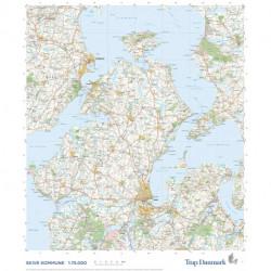Trap Danmark: Falset kort over Skive Kommune: Topografisk kort 1:75.000