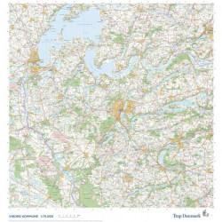Trap Danmark: Falset kort over Viborg Kommune: Topografisk kort 1:75.000