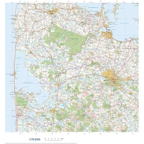 Trap Danmark Falset Kort Over Holstebro Kommune Topografisk Kort